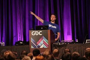 Rocket League - Corey Davis, Rocket League's design manager, giving a presentation at GDC 2016