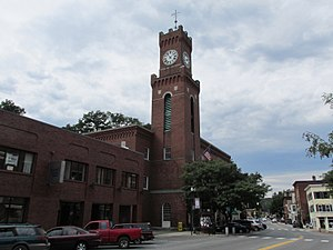 National Register of Historic Places listings in Windham County, Vermont - Image: Rockingham Town Hall, Bellows Falls VT