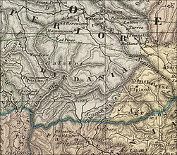 Roman Dardania part of Moesia Superior part of old map made 1865.jpg
