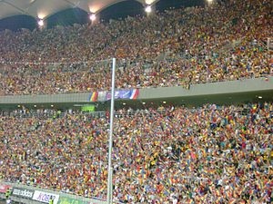 Romania national football team - Romanian fans at Arena Națională