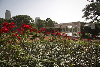 Parque Tres de Febrero - The rose garden.