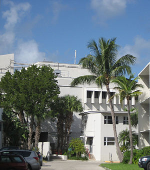 Virginia Key - The Applied Marine Physics Building at the University of Miami's Rosenstiel School of Marine and Atmospheric Science on Virginia Key.