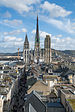 Rouen Cathedral and Rue de Gros Horloge as seen from Gros Horloge 140215 2.jpg