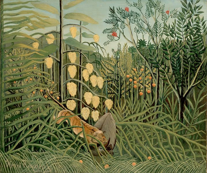 File:Rousseau, Henri - In a Tropical Forest. Struggle between Tiger and Bull.jpg