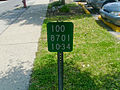 Route 100 reference marker, Yonkers.JPG