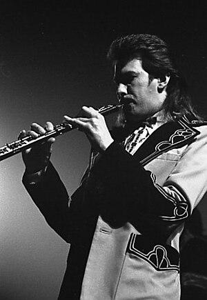 Andy Mackay - Mackay performing in Toronto, 1974