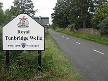 Royal Tunbridge Wells Sign on B2169 Bayham Road - geograph.org.uk - 1410284.jpg