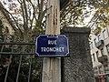 Rue Tronchet (Lyon) - plaque de rue.JPG