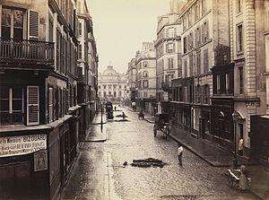 "Charles Marville - ""Rue de Constantine"", c. 1865"