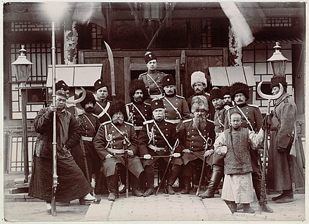 Russian officers in Manchuria during the Boxer Rebellion Russian soldiers during the boxer rebellion.jpg