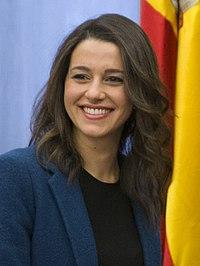 Sáenz de Santamaría se reúne con Inés Arrimadas, portavoz de Ciudadanos en el Parlamento de Cataluña (cropped).jpg