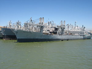 Suisun Bay Reserve Fleet - Image: S.S. green mountain state mothball