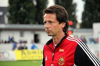 Peter Schöttel - Schöttel managing Rapid Wien in 2013.