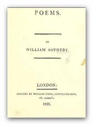 William Sotheby - Poems by William Sotheby, 1825.
