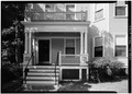 SOUTH FRONT, DETAIL OF ENTRANCE - 1667 Cambridge Street (Apartment House), Cambridge, Middlesex County, MA HABS MASS,9-CAMB,37-3.tif