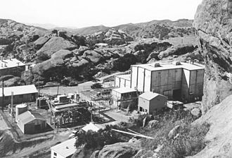 Sodium Reactor Experiment - The Sodium Reactor Experiment facility in 1958