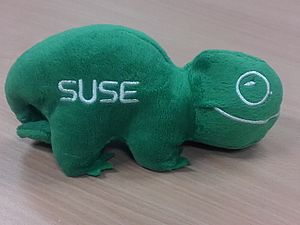 SUSE - SUSE chameleon official plush toy