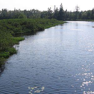 Sackville River - Sackville River as seen from Highway 101 near Upper Sackville, Nova Scotia