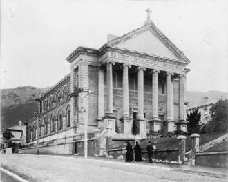 Sacred Heart Cathedral, Wellington - Sacred Heart Basilica in 1910