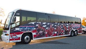 Saginaw Spirit - Saginaw Spirit team bus, as of in October 2011