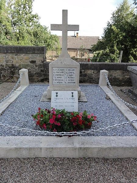 Saint-Pierrevillers (Meuse) tombe de guerre soldats français