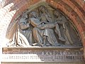 Saint Michael Church detail, Pieta relief (Joseph Schönfeld, 1868), 2016 Szekszard.jpg