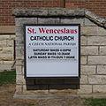 Saint Wenceslaus Church (Cedar Rapids, Iowa) - St. Wenceslaus sign.jpg