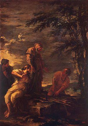 Protagoras - Democritus (center) and Protagoras (right) 17th-century painting by Salvator Rosa in Hermitage Museum