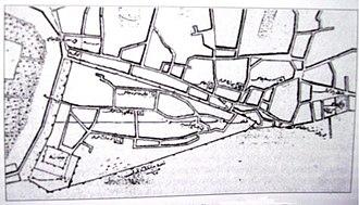 Samsun Castle - Boundaries of Samsun Castle in a map of 1856.
