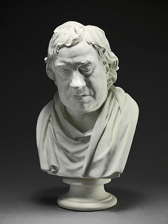 Joseph Nollekens - Samuel Johnson, plaster, by Joseph Nollekens, Yale Center for British Art, 1777.