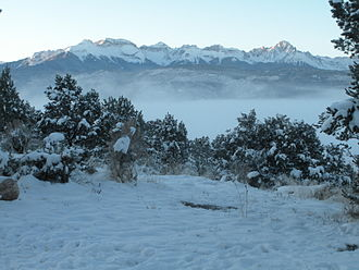 Ridgway, Colorado - Morning near Ridgway after heavy snowfall
