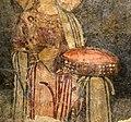 San lorenzo in insula, cripta di epifanio, affreschi di scuola benedettina, 824-842 ca., teoria di sei sante in costume bizantino, 13 corona gemmata.jpg