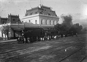 Buenos Aires and Pacific Railway - San Luis station, c. 1930.