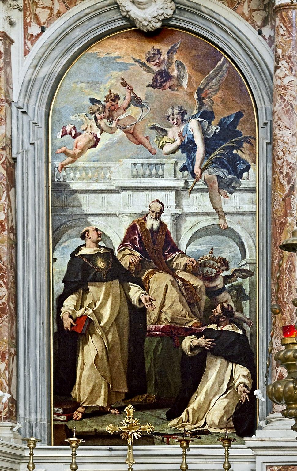 Santa Maria del Rosario (Venice) Sebastiano Ricci - St Pius, St Thomas of Aquino and St Peter Martyr