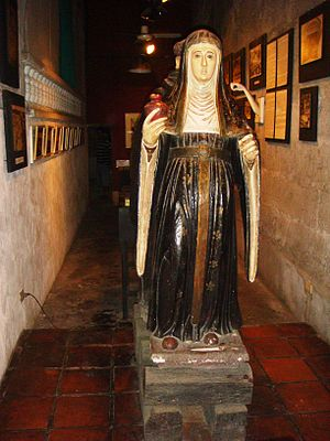 Clare of Montefalco - Saint Clare of Montefalco's centuries-old image at Pulilan, Bulacan's Church Museum