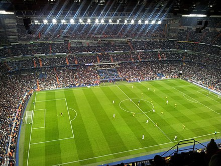 Real Madrid against Borussia Dortmund in the UEFA Champions League in 2013 Santiago Bernabeu Stadium, Real Madrid - Borussia Dortmund, 2013 - 10.jpg