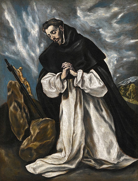 Saint Dominic (1170-1221), portrait by El Greco, about 1600 Santo Domingo en oracion.jpg