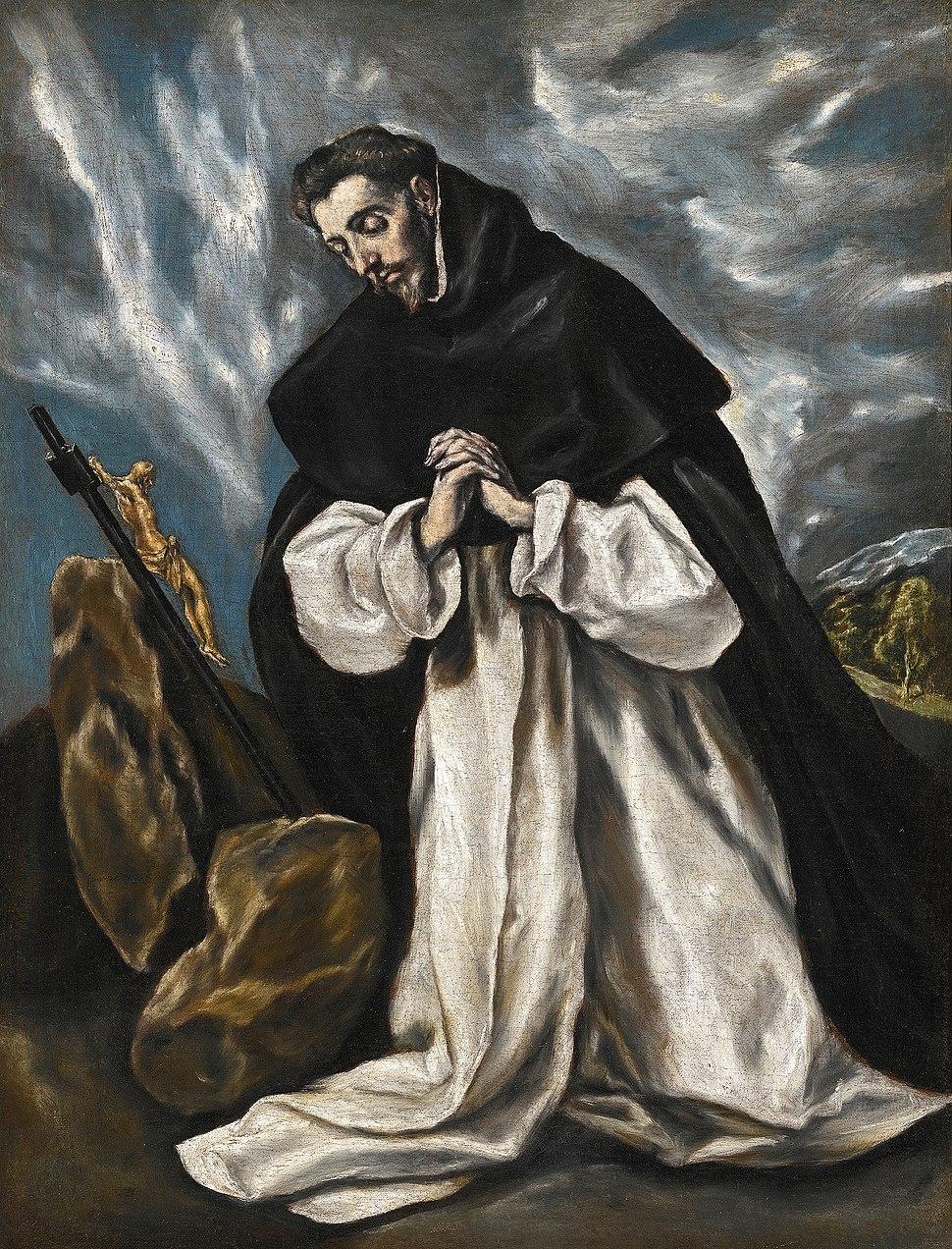 Santo Domingo en oración