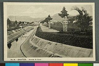 Santos. Avenida do Canal