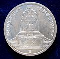 Saxony, German State, 3 Mark 1913 Silver Coin Battle of Leipzig Centennial, obverse.jpg