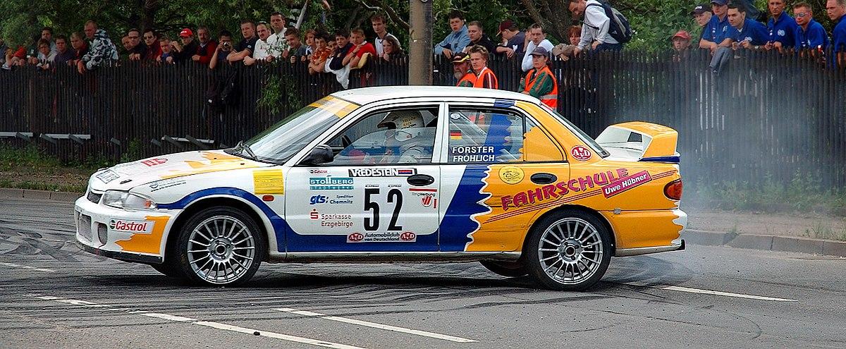 Saxony rally racing Mitsubishi Lancer Evo 2 52 (aka).jpg