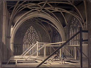 Joseph Halfpenny - Scaffolding at the West End of York Minster