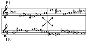 Variations for Orchestra (Schoenberg) - Image: Schoenberg Variations for Orchestra op. 31 tone row