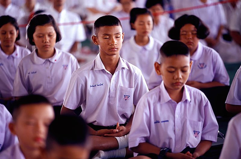 File:School children meditating.jpg