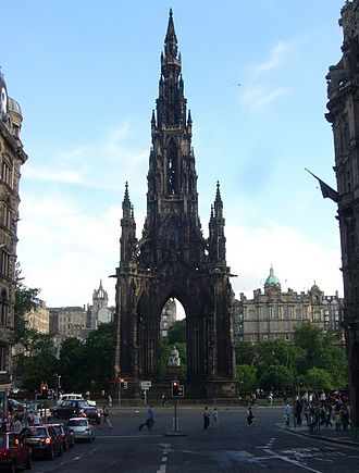 Novelist - The Scott Monument on Edinburgh's Princes Street.