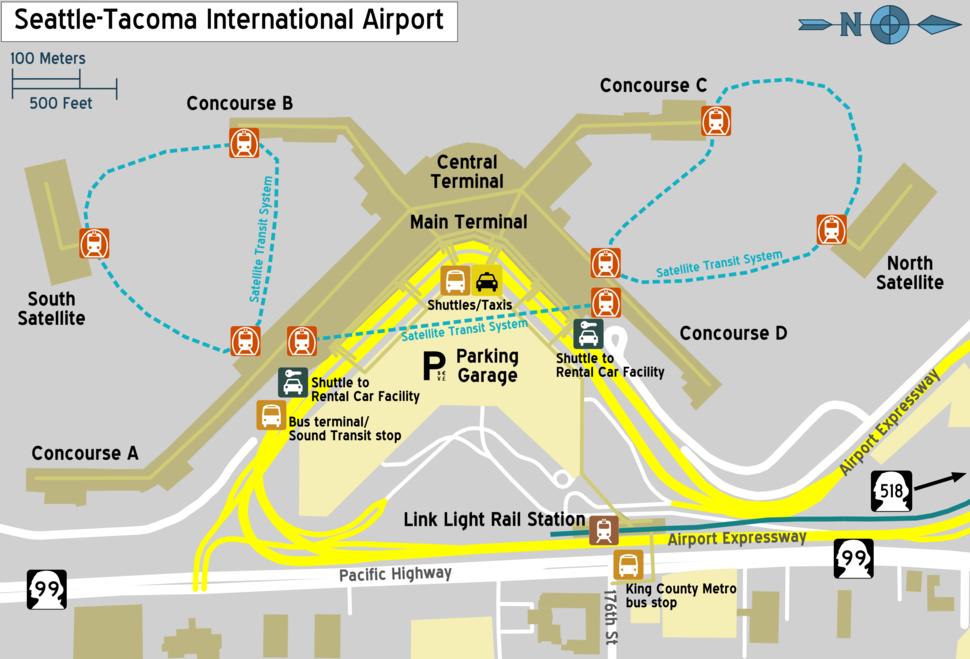 Sea-tac terminal map