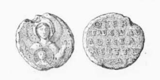 Roussel de Bailleul - Roussel's seal, with an image of the Virgin Mary