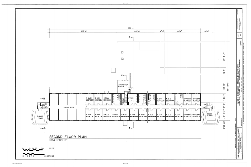 File second floor plan nike hercules missile battery for Alaska floor plans