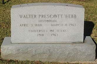 Walter Prescott Webb - Walter Prescott Webb grave at Texas State Cemetery in Austin, Texas