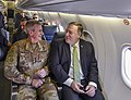 Secretary Pompeo Shares a Seat With General Nicholson En Route to Kabul (43305926581).jpg